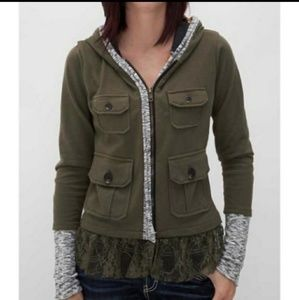 FP- Anthropology Scrapbook Military Lace Jacket